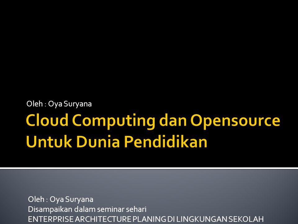  Sesi 1  Cloud Computing  Memanfaatkan Layanan SaaS  Sesi 2  Membangun Cloud Computing Sendiri dengan cloud OS (oneye)  Sesi 3  Membangun Cloud Computing Sendiri dengan virtualbox dan virtualmin
