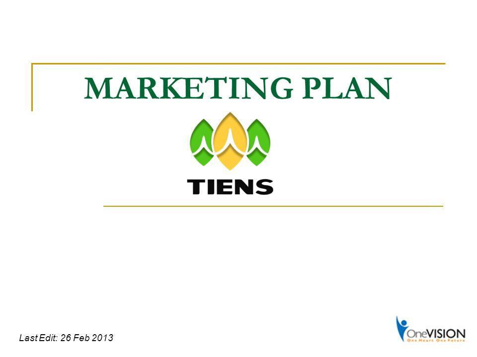 MARKETING PLAN Last Edit: 26 Feb 2013