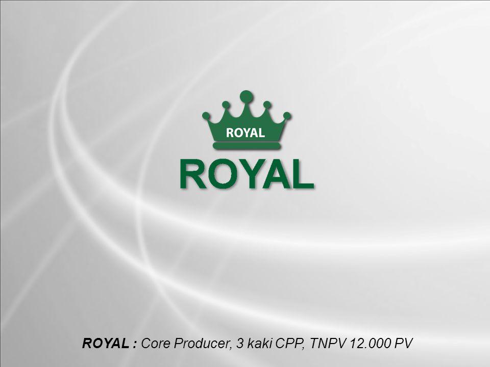 ROYAL : Core Producer, 3 kaki CPP, TNPV 12.000 PV
