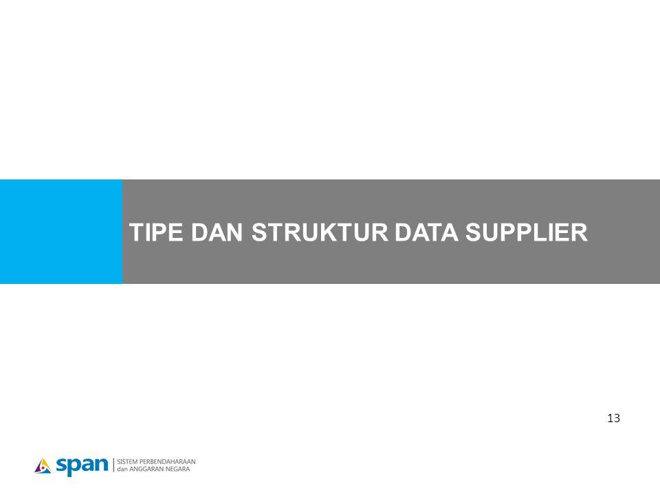 13 TIPE DAN STRUKTUR DATA SUPPLIER