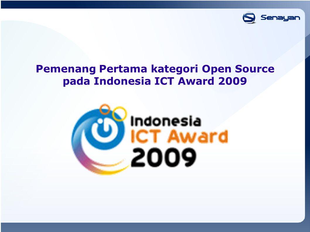 Pemenang Pertama kategori Open Source pada Indonesia ICT Award 2009