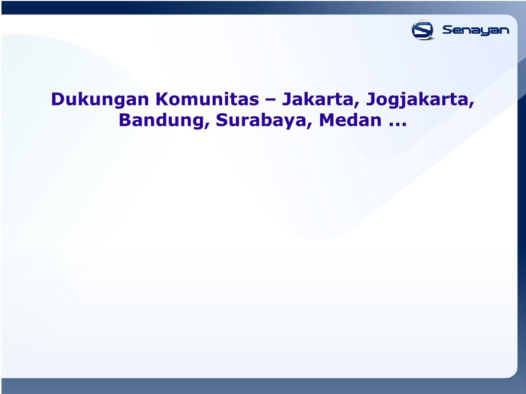 Dukungan Komunitas – Jakarta, Jogjakarta, Bandung, Surabaya, Medan...