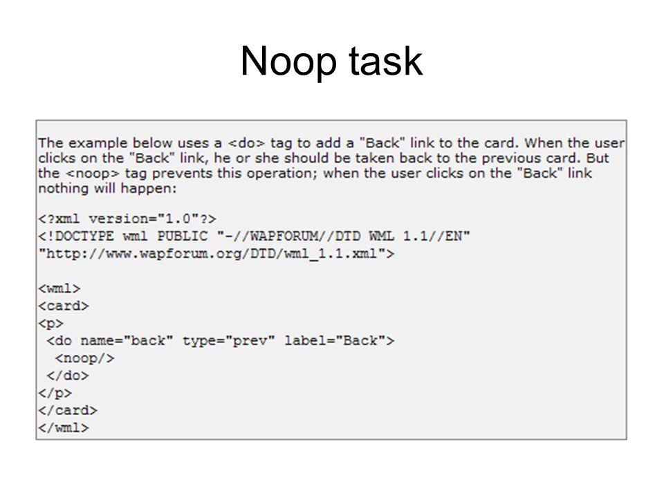 Noop task