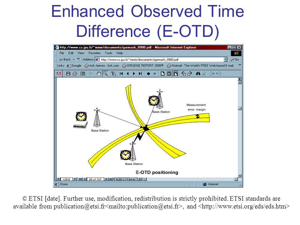 Enhanced Observed Time Difference (E-OTD) © ETSI [date].