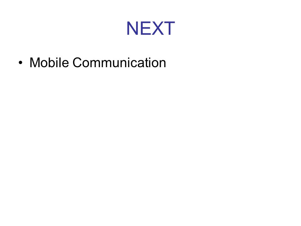 NEXT Mobile Communication