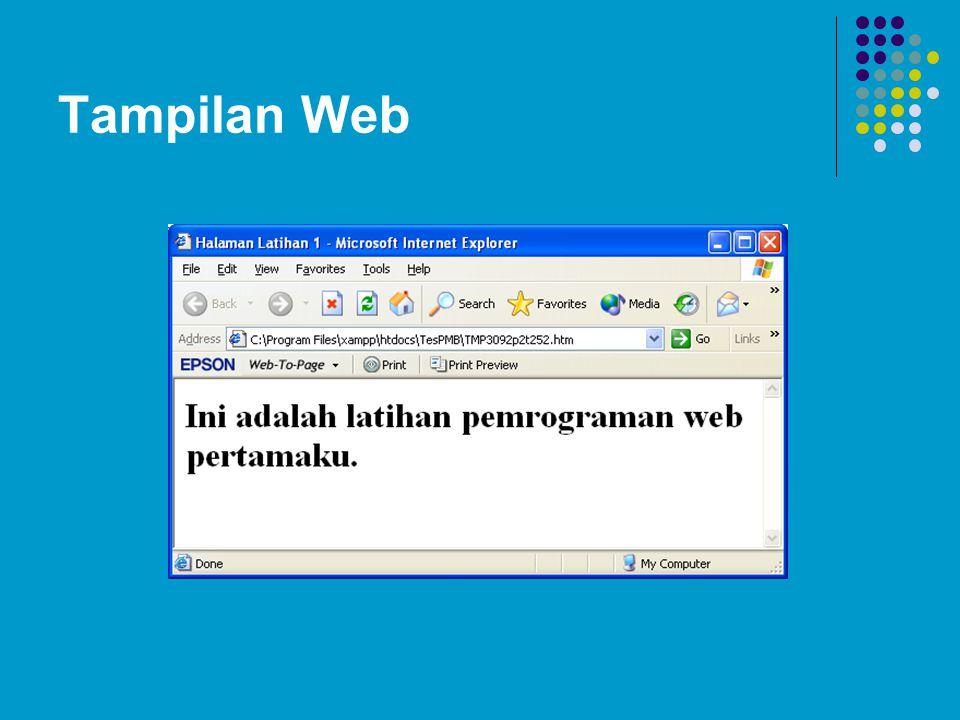 Tampilan Web