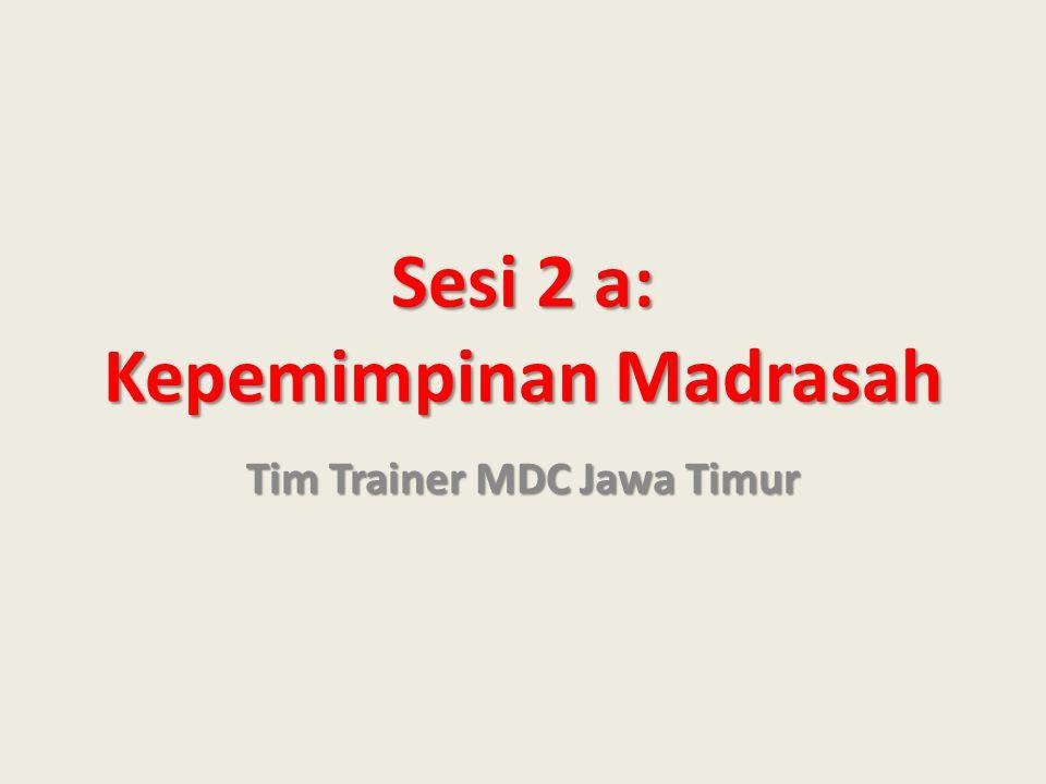 Sesi 2 a: Kepemimpinan Madrasah Tim Trainer MDC Jawa Timur
