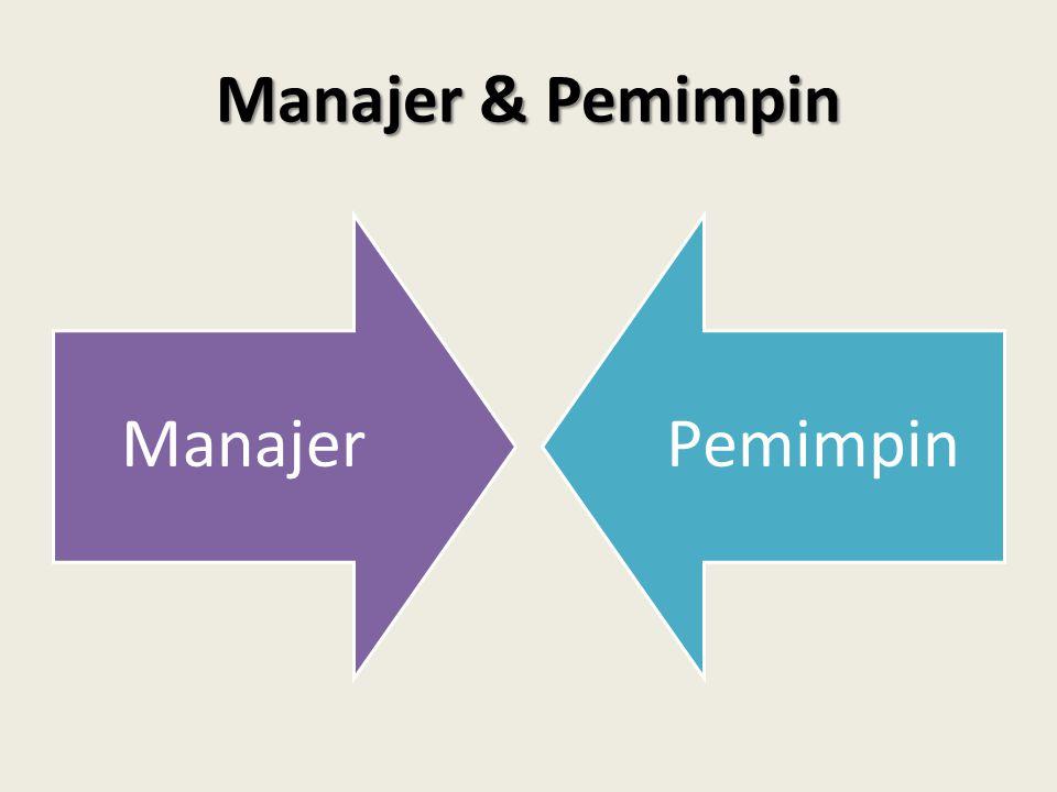 Manajer & Pemimpin ManajerPemimpin