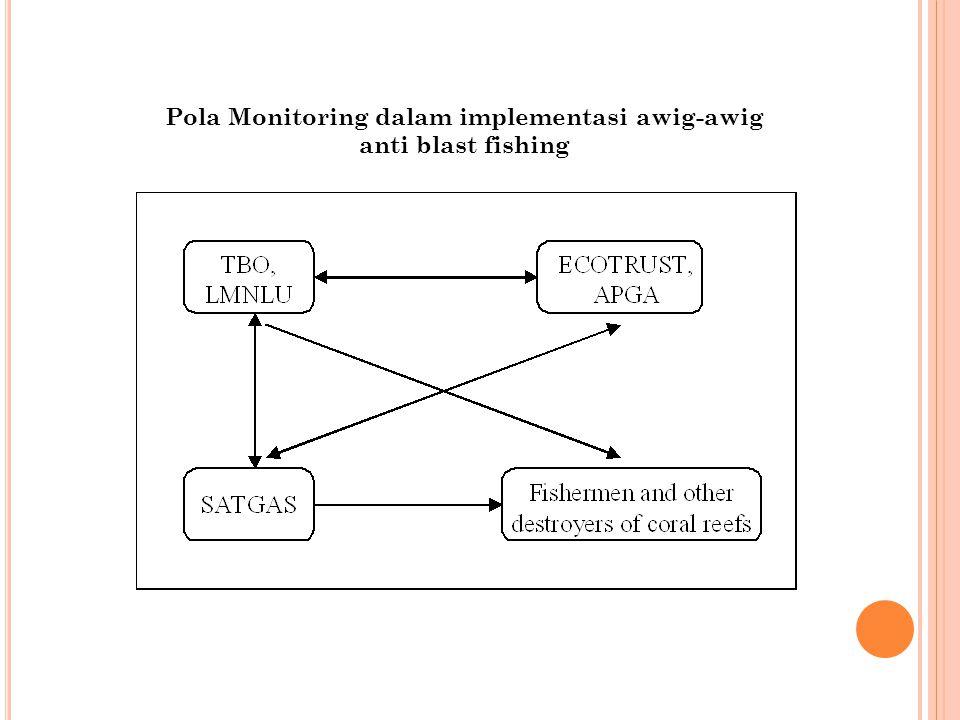 Pola Monitoring dalam implementasi awig-awig anti blast fishing
