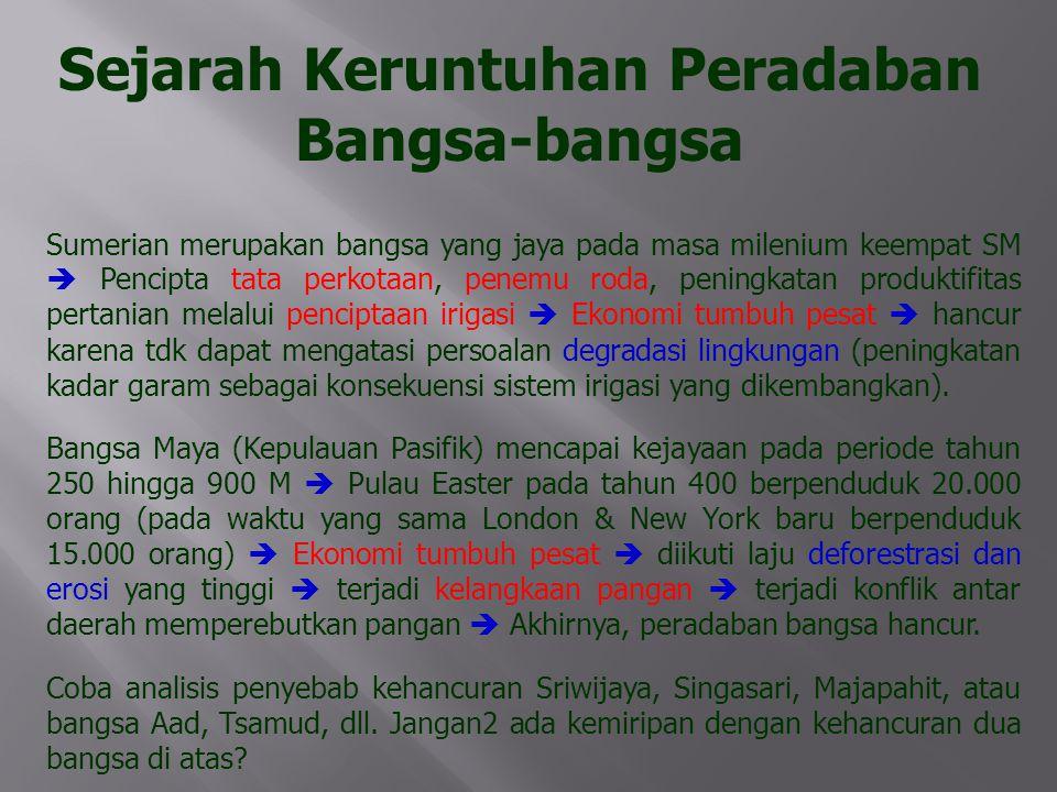 Indonesia saat ini sedang menuju kehancuran.