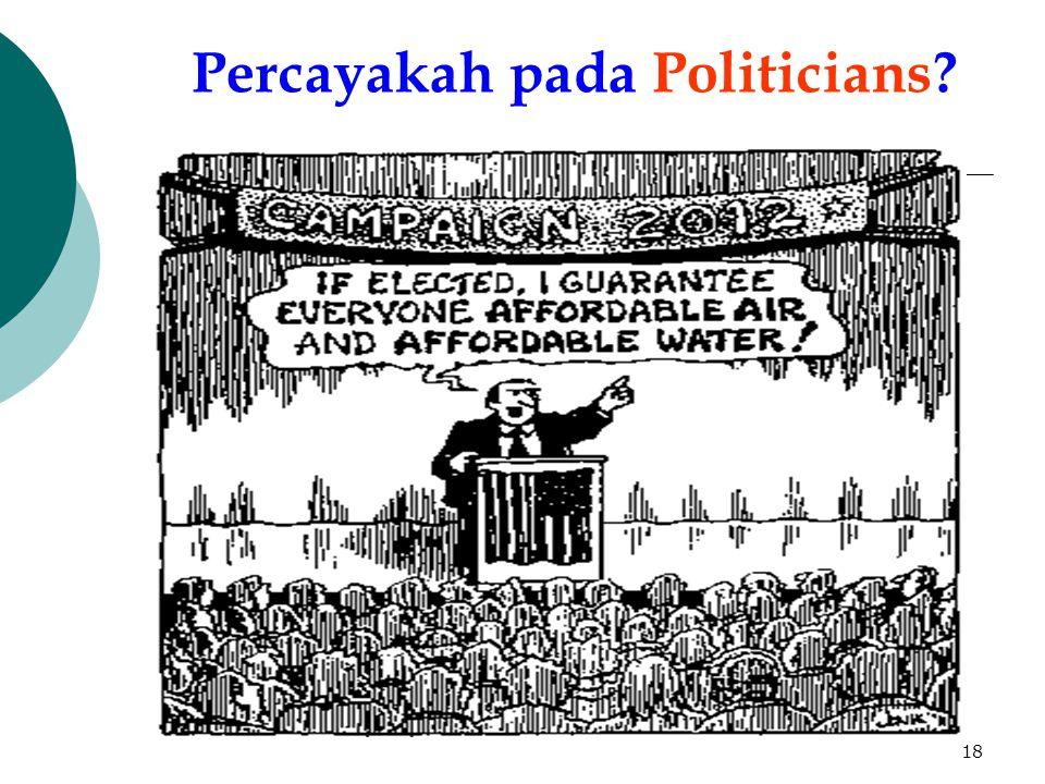 18 Percayakah pada Politicians?
