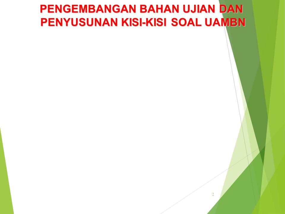 22 KISI-KISI PENULISAN SOAL TES PRESTASI BELAJAR Jenjang Pendidikan: SMA/MA Mata pelajaran : Bahasa dan Sastra Indonesia Program : IPA/IPS Kurikulum : 1994 + suplemen Jumlah/Jenis Soal : 60 Pilihan Ganda NO TUJUAN PEMBELAJARAN BHN KLS / SMT PB/SPB KONSEP/SUBKONSEP PEMBELAJARAN MATERIINDIKATOR NO SOAL 12 Siswa dapat mengungkapkan amanat dalam novel, cerpen, atau drama.