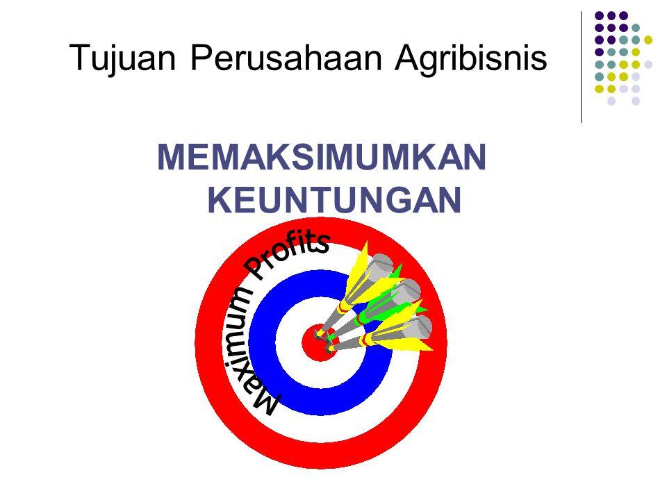 Tujuan Perusahaan Agribisnis MEMAKSIMUMKAN KEUNTUNGAN