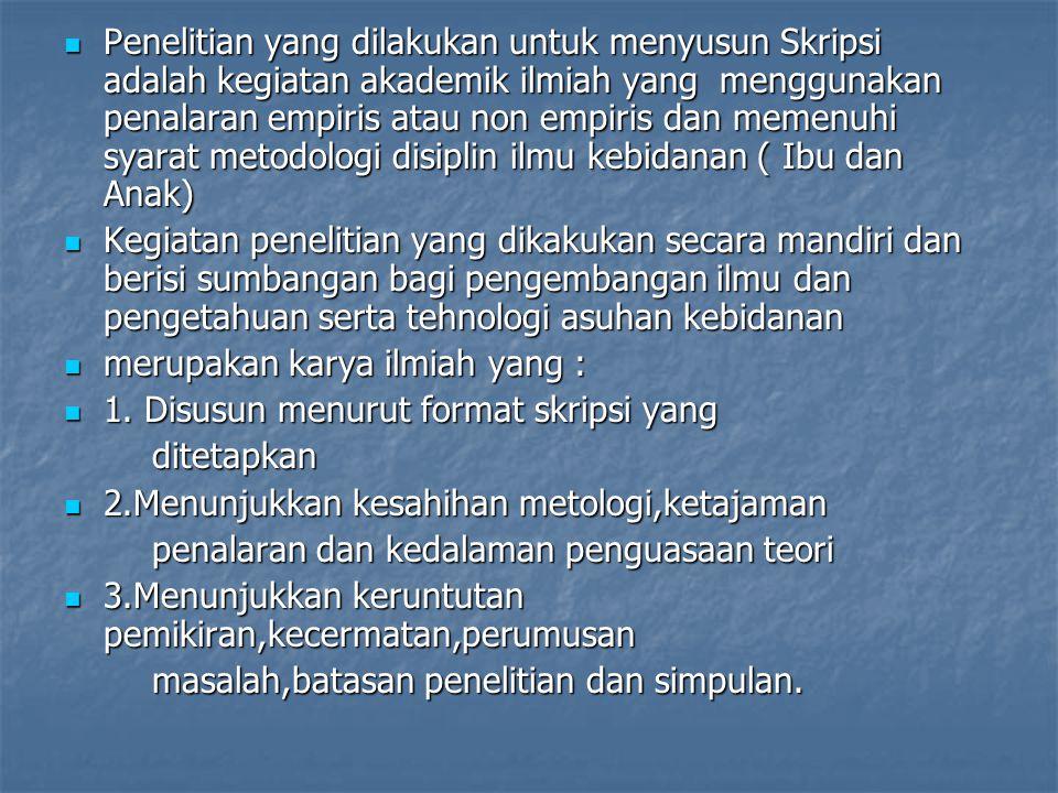 Contoh rumusan masalah: pengaruh 1.Bagaimanakah kejadian Diabetes Mellitus dalam Kehamilan di RSU Dr.Soetomo Surabaya.