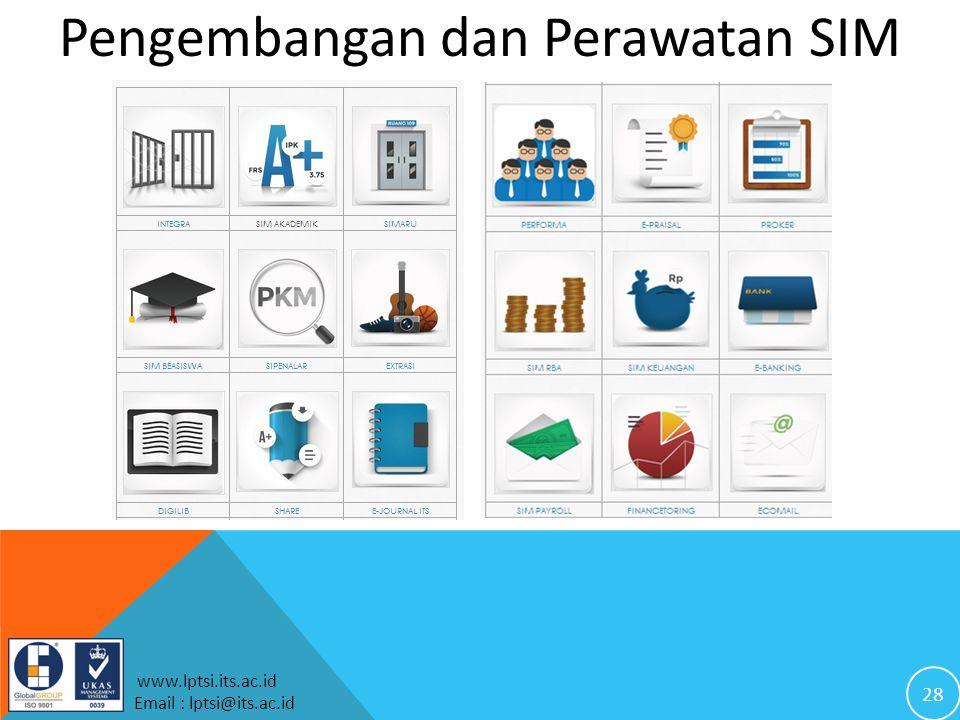 28 www.lptsi.its.ac.id Email : lptsi@its.ac.id Pengembangan dan Perawatan SIM
