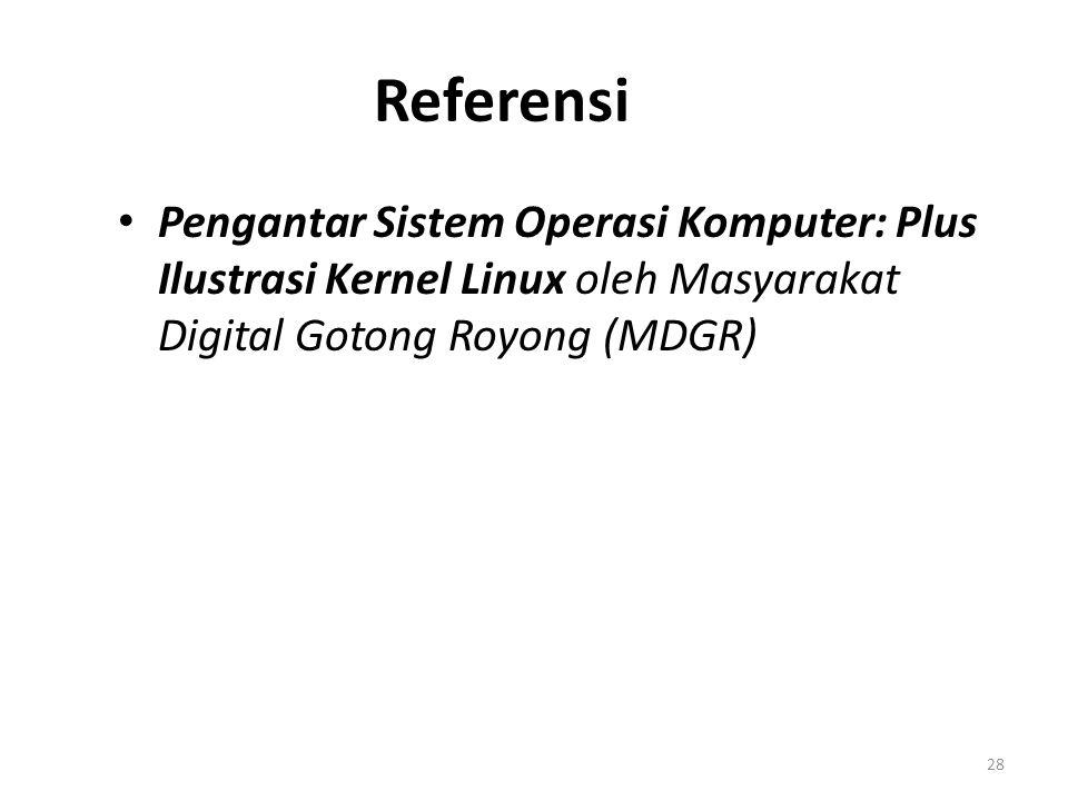 Referensi 28 Pengantar Sistem Operasi Komputer: Plus Ilustrasi Kernel Linux oleh Masyarakat Digital Gotong Royong (MDGR)