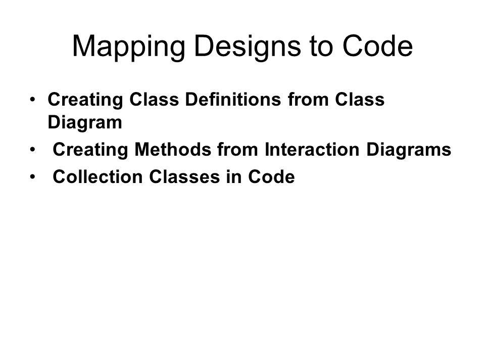 Creating Class Definitions from Class Diagram Defining a Class with Method Signatures and Attributes