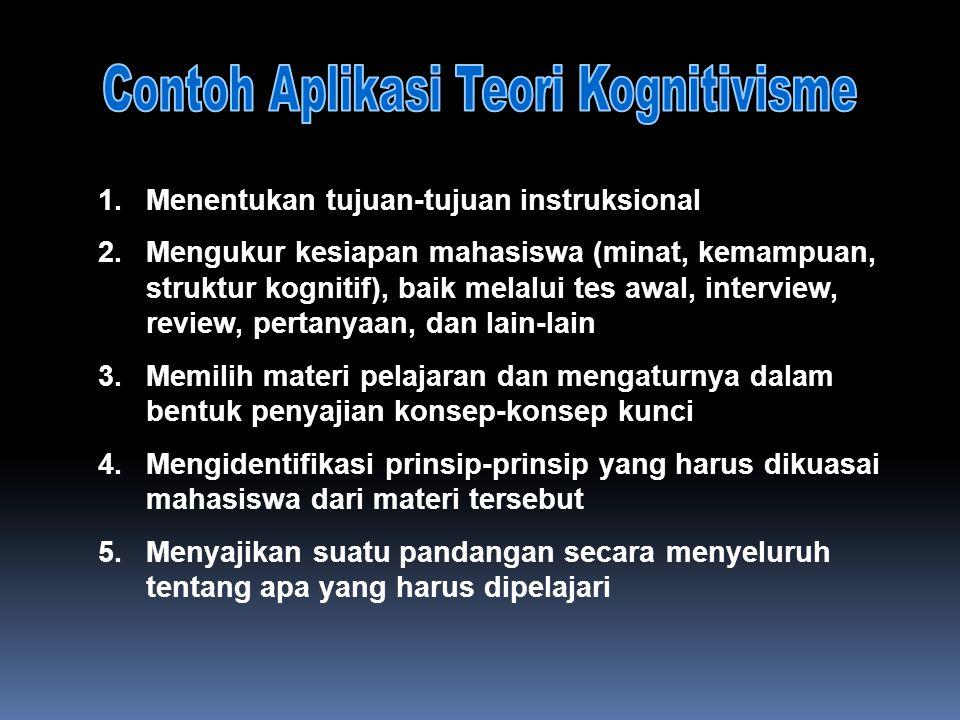 1.Menentukan tujuan-tujuan instruksional 2.Mengukur kesiapan mahasiswa (minat, kemampuan, struktur kognitif), baik melalui tes awal, interview, review