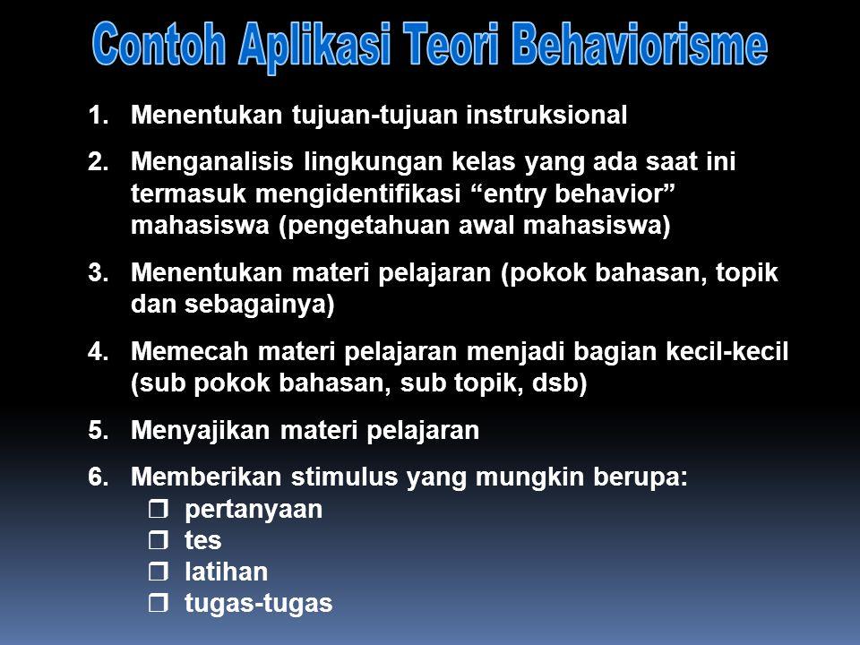 """1.Menentukan tujuan-tujuan instruksional 2.Menganalisis lingkungan kelas yang ada saat ini termasuk mengidentifikasi """"entry behavior"""" mahasiswa (penge"""
