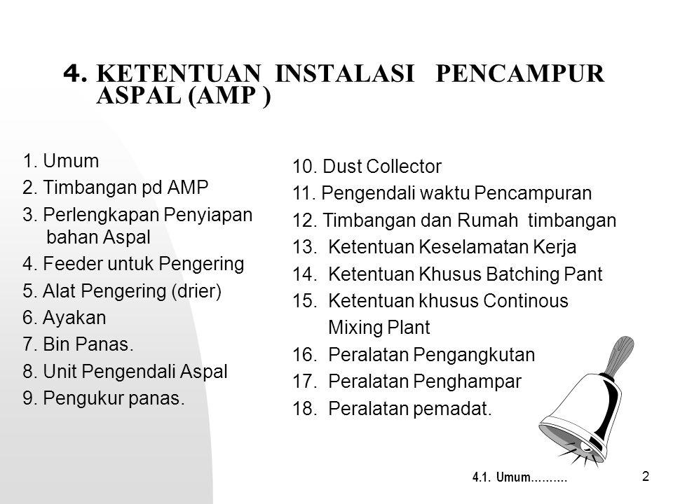 2 4.KETENTUAN INSTALASI PENCAMPUR ASPAL (AMP ) 1.