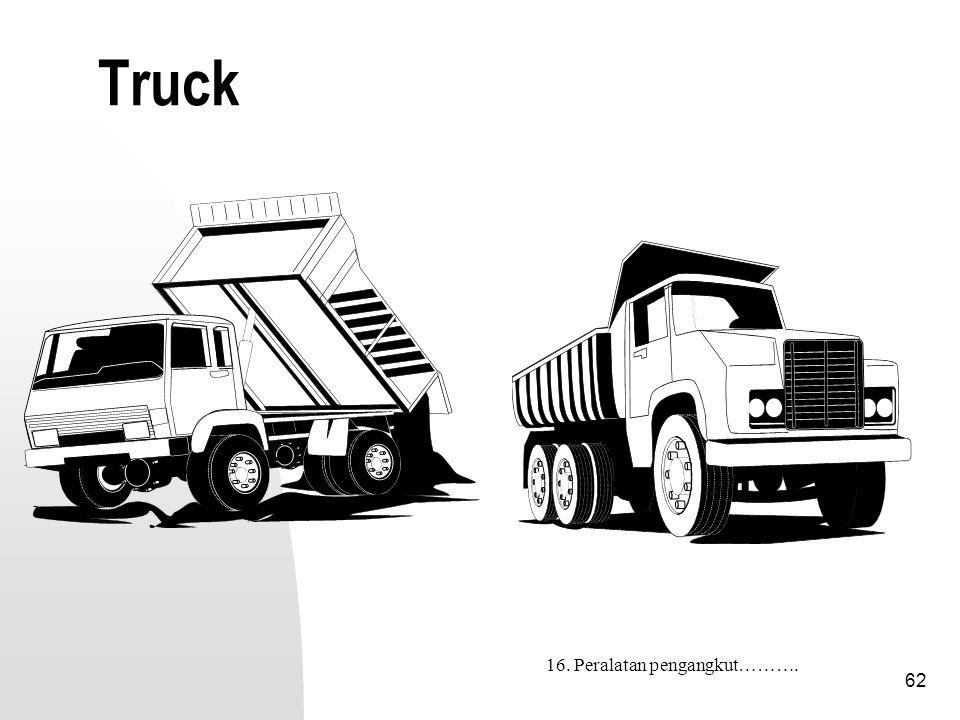62 Truck 16. Peralatan pengangkut……….