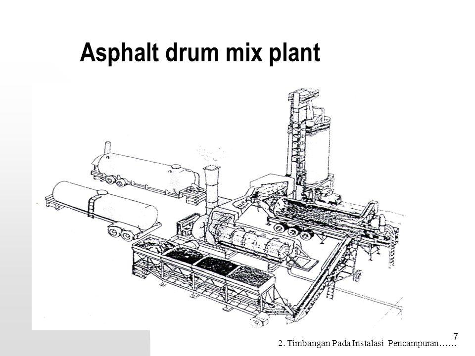 58 Check List –Continuous Mix Plant 16. Peralatan pengangkut……….