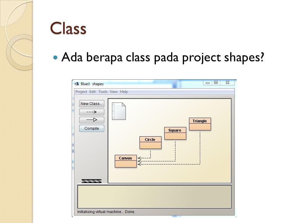 Class Ada berapa class pada project shapes?