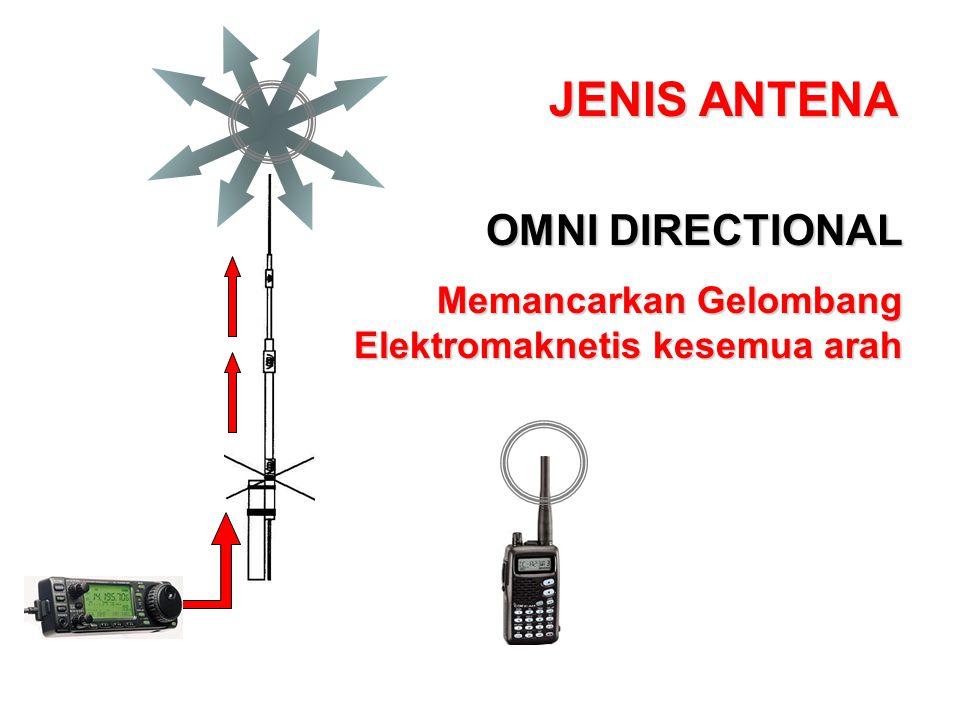 JENIS ANTENA OMNI DIRECTIONAL Memancarkan Gelombang Elektromaknetis kesemua arah