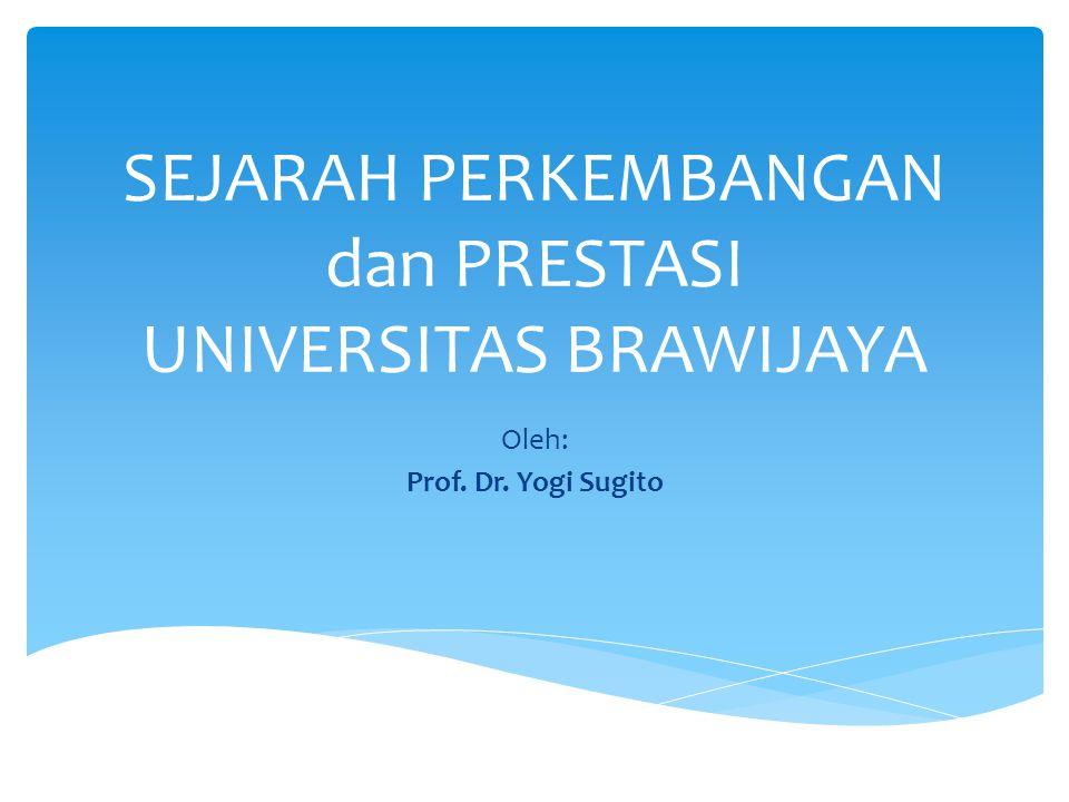 SEJARAH PERKEMBANGAN dan PRESTASI UNIVERSITAS BRAWIJAYA Oleh: Prof. Dr. Yogi Sugito