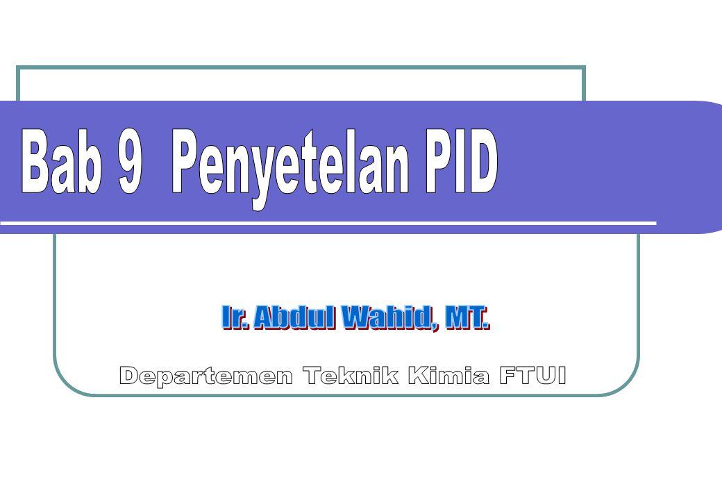 22 Kp = 1  = 5  = 5 TC v1v1 v2v2 Kc = 0.74 TI = 7.5 Td = 0.90 020406080100120 -5 0 5 10 15 CV 020406080100120 0 10 20 30 time MV Kinerja baik Process reaction curve Penyetelan PID Selesaikan masalah penyetelan.