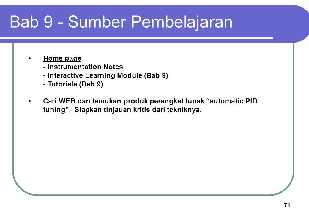 "71 Home page - Instrumentation Notes - Interactive Learning Module (Bab 9) - Tutorials (Bab 9) Cari WEB dan temukan produk perangkat lunak ""automatic"