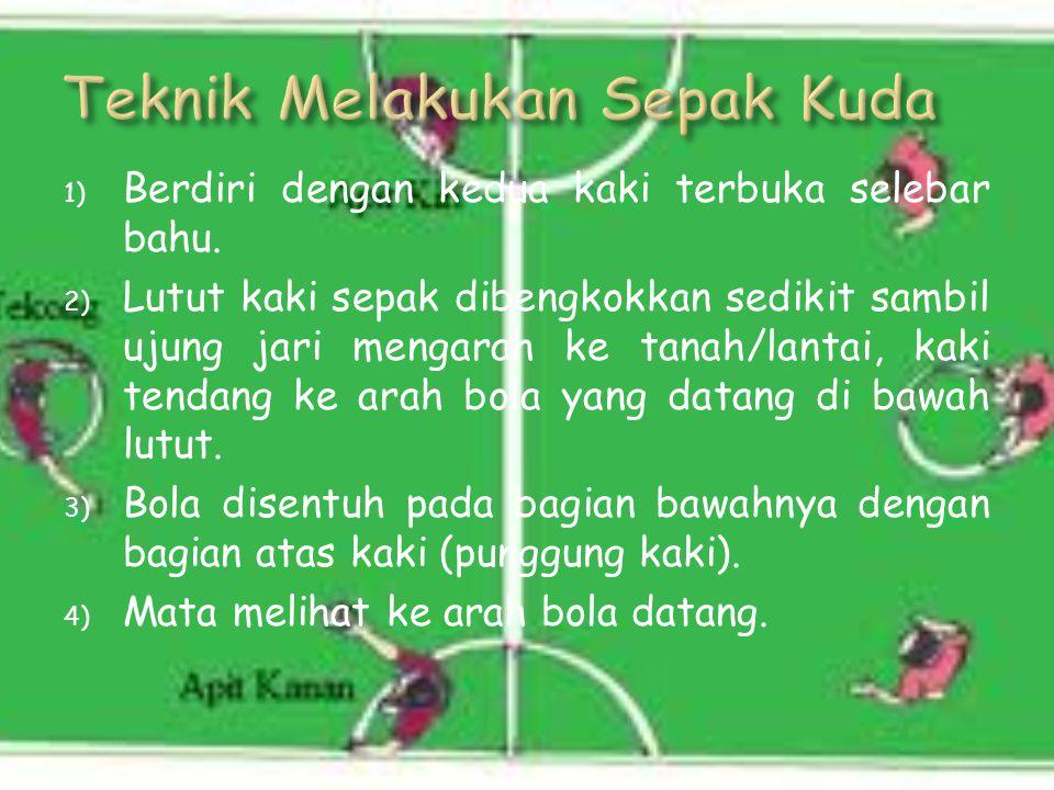 1) Memainkan bola yang datangnya rendah dan kencang atau keras. 2) Menyelamatkan dari serangan lawan, mempertahankan diri dari serangan lawan. 3) Mema