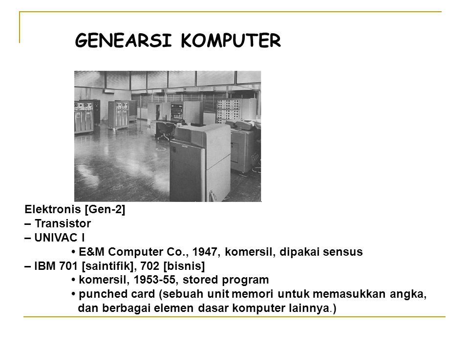 ARSITEKTUR KOMPUTER VON NEUMAN Walaupun berukuran besar, sistem tersebut dikategorikan sebagai komputer pribadi (PC).