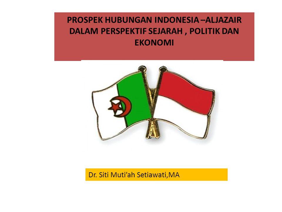 PROSPEK HUBUNGAN INDONESIA –ALJAZAIR DALAM PERSPEKTIF SEJARAH, POLITIK DAN EKONOMI Dr.