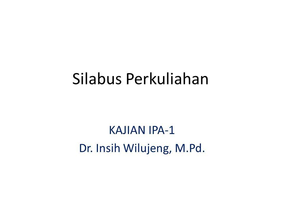 Silabus Perkuliahan KAJIAN IPA-1 Dr. Insih Wilujeng, M.Pd.