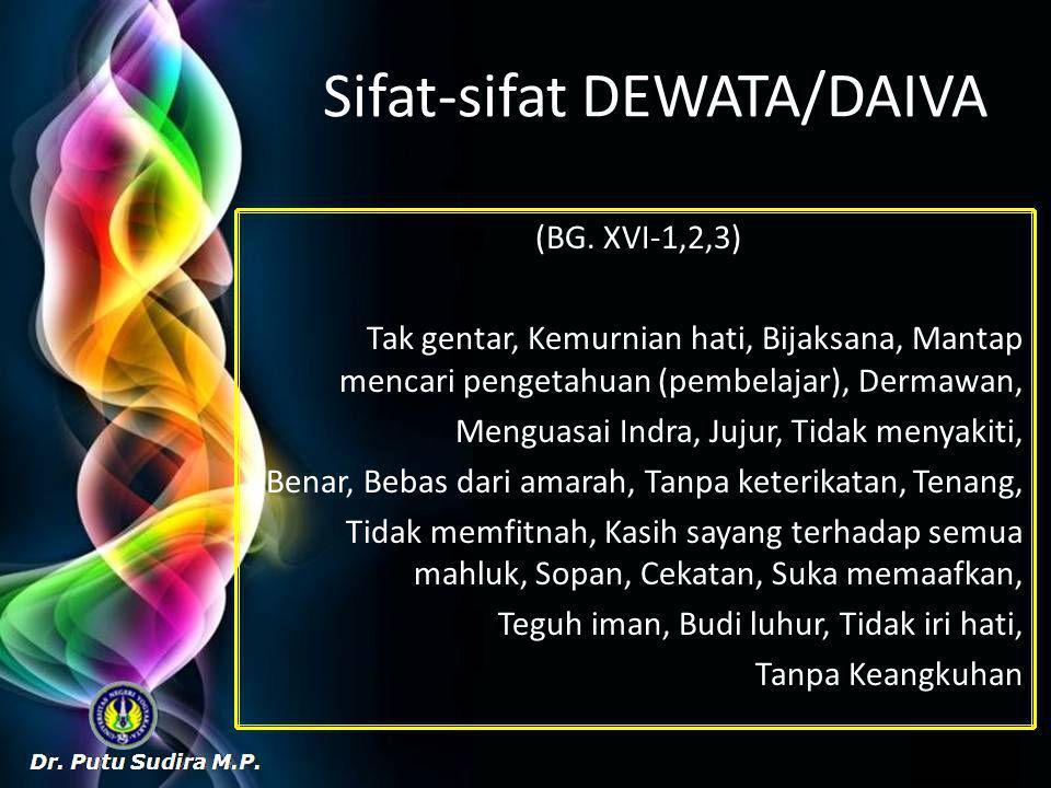 Sifat-sifat DEWATA/DAIVA (BG.