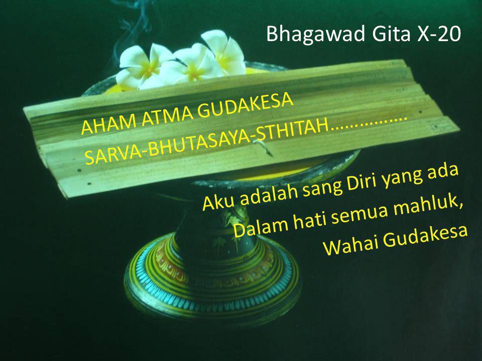 Bhagawad Gita X-20 AHAM ATMA GUDAKESA SARVA-BHUTASAYA-STHITAH…………….