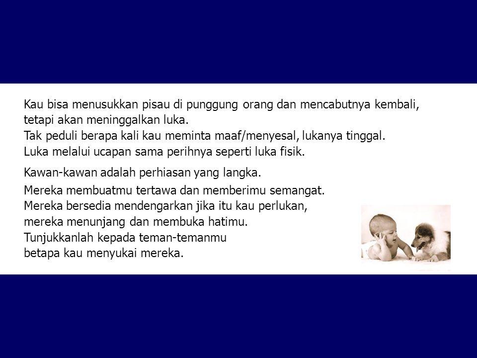 Kirim surat ini kepada mereka yang kau anggap teman, walaupun berarti kau mengembalikannya kepada yang mengirimnya kepadamu.