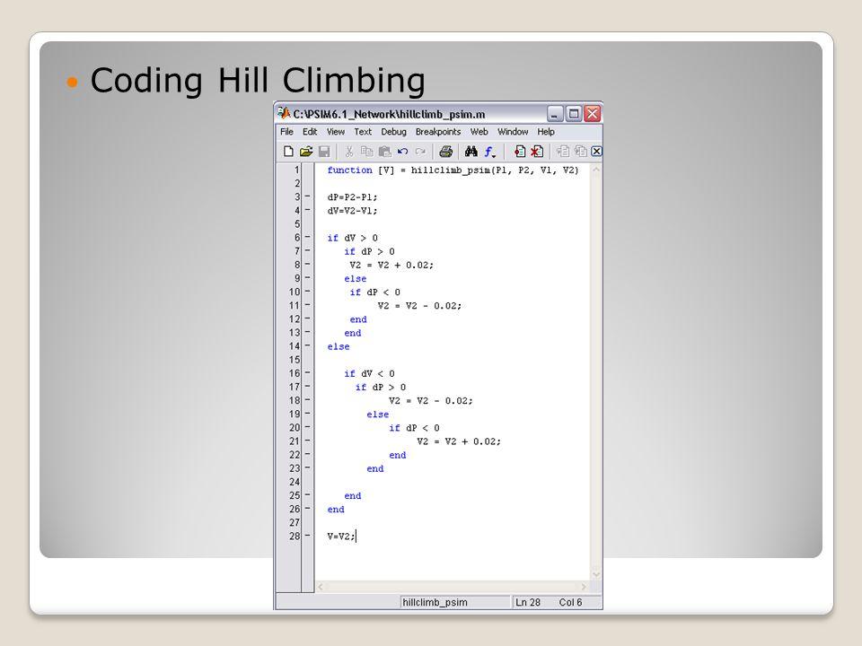 Coding Hill Climbing