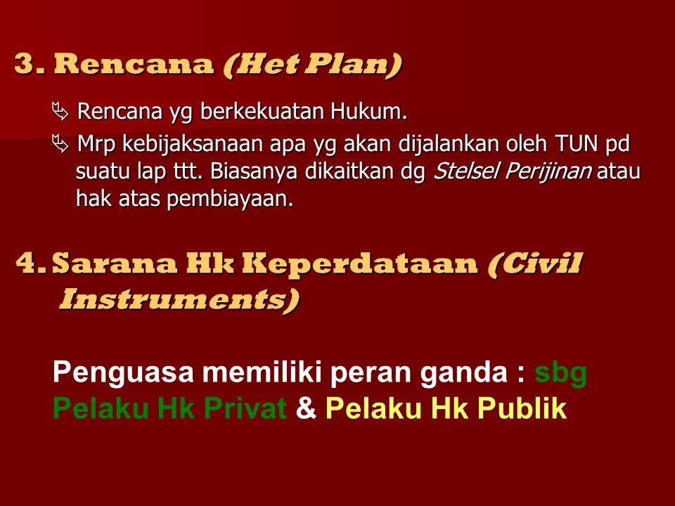 3.Rencana (Het Plan)  Rencana yg berkekuatan Hukum.