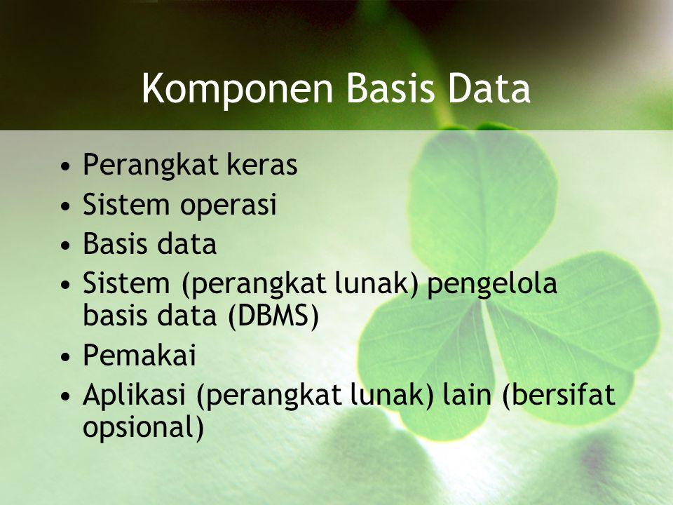 STRUKTUR SISTEM KESELURUHAN Sebuah sistem pengelola basis data (DBMS) umumnya memiliki sejumlah komponen fungsional (modul): –File manager –Data base manager –Query processor –DML Precompiler –DDL compiler