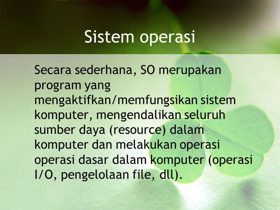 Basis Data Sebuah sistem basis data dapat memiliki beberapa basis data.