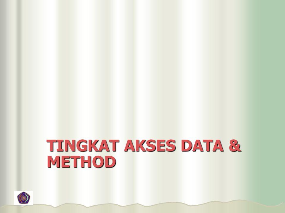 TINGKAT AKSES DATA & METHOD