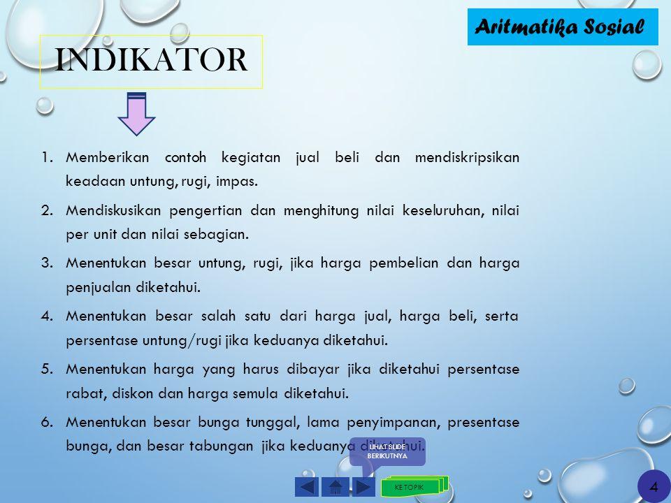 TUJUAN PEMBELAJARAN Aritmatika Sosial II.