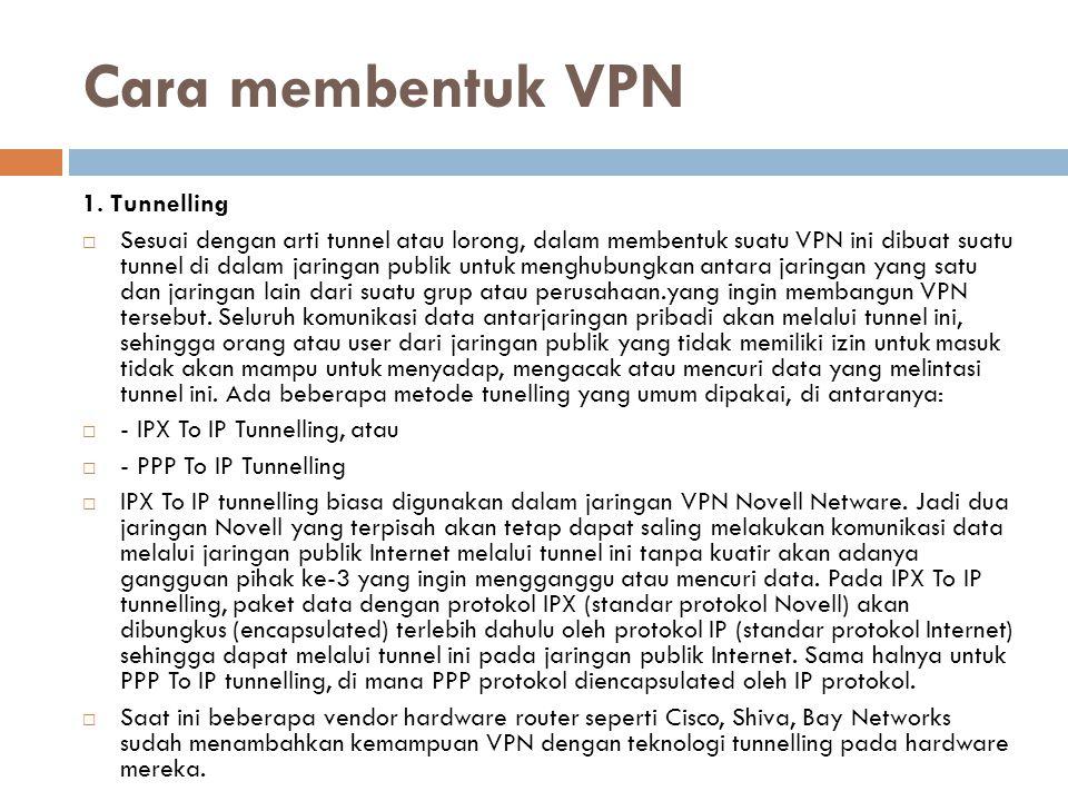 Cara membentuk VPN 1.