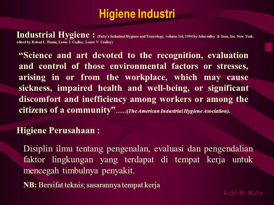 Higiene Industri Higiene Perusahaan : Ricki M.