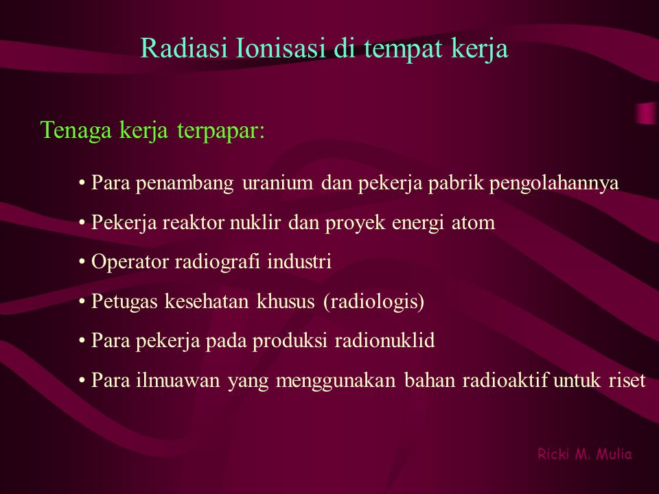 Ionizing radiation types Beta particles Is a highly energetic electron or positron.