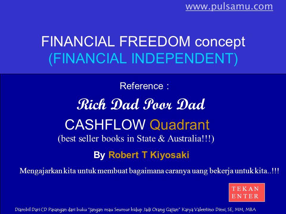Rich Dad Poor Dad By Robert T Kiyosaki Mengajarkan kita untuk membuat bagaimana caranya uang bekerja untuk kita..!!.