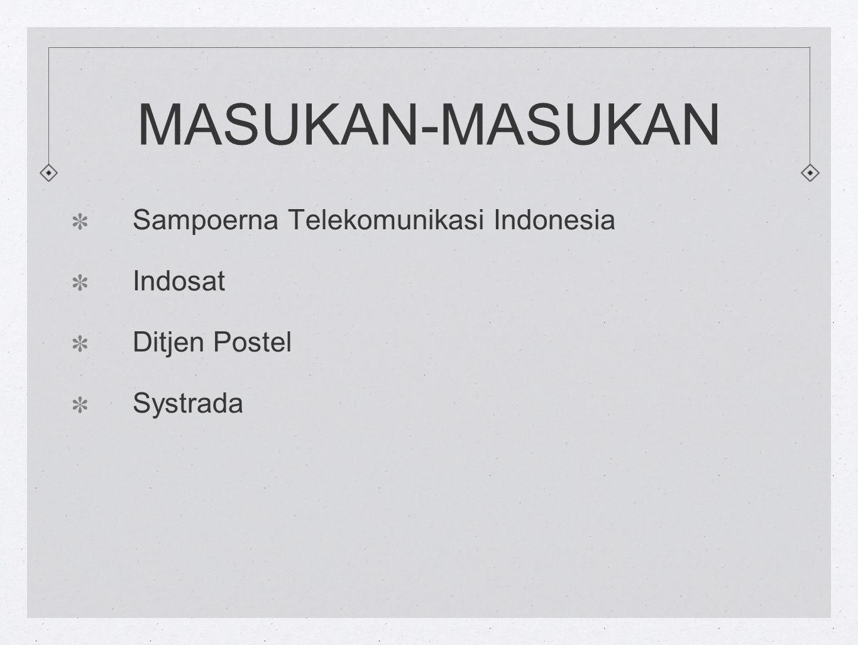 MASUKAN-MASUKAN Sampoerna Telekomunikasi Indonesia Indosat Ditjen Postel Systrada