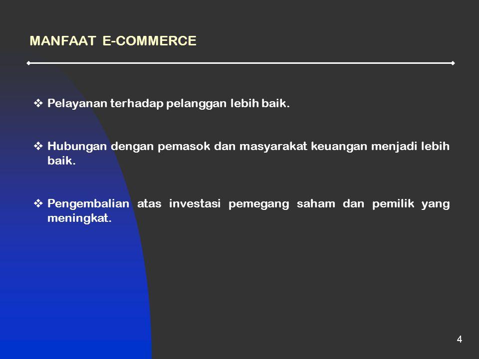 4  Pelayanan terhadap pelanggan lebih baik.  Hubungan dengan pemasok dan masyarakat keuangan menjadi lebih baik.  Pengembalian atas investasi pemeg